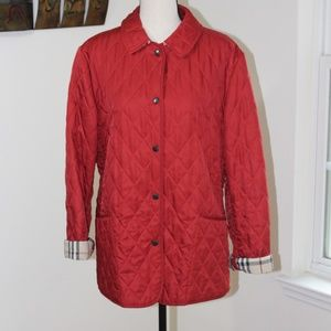 AUTHENTIC Burberry  red quilted jacket